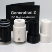 black and white dc gen 2 ceramic atomizers
