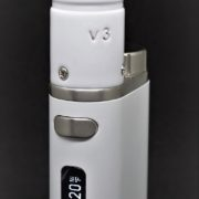 white vaporizers set up